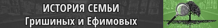История семьи Гришиных и Ефимовых