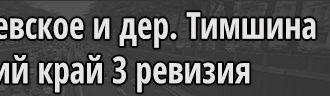 Село Васильевское и деревня Тимшина Пермский край 3 ревизия