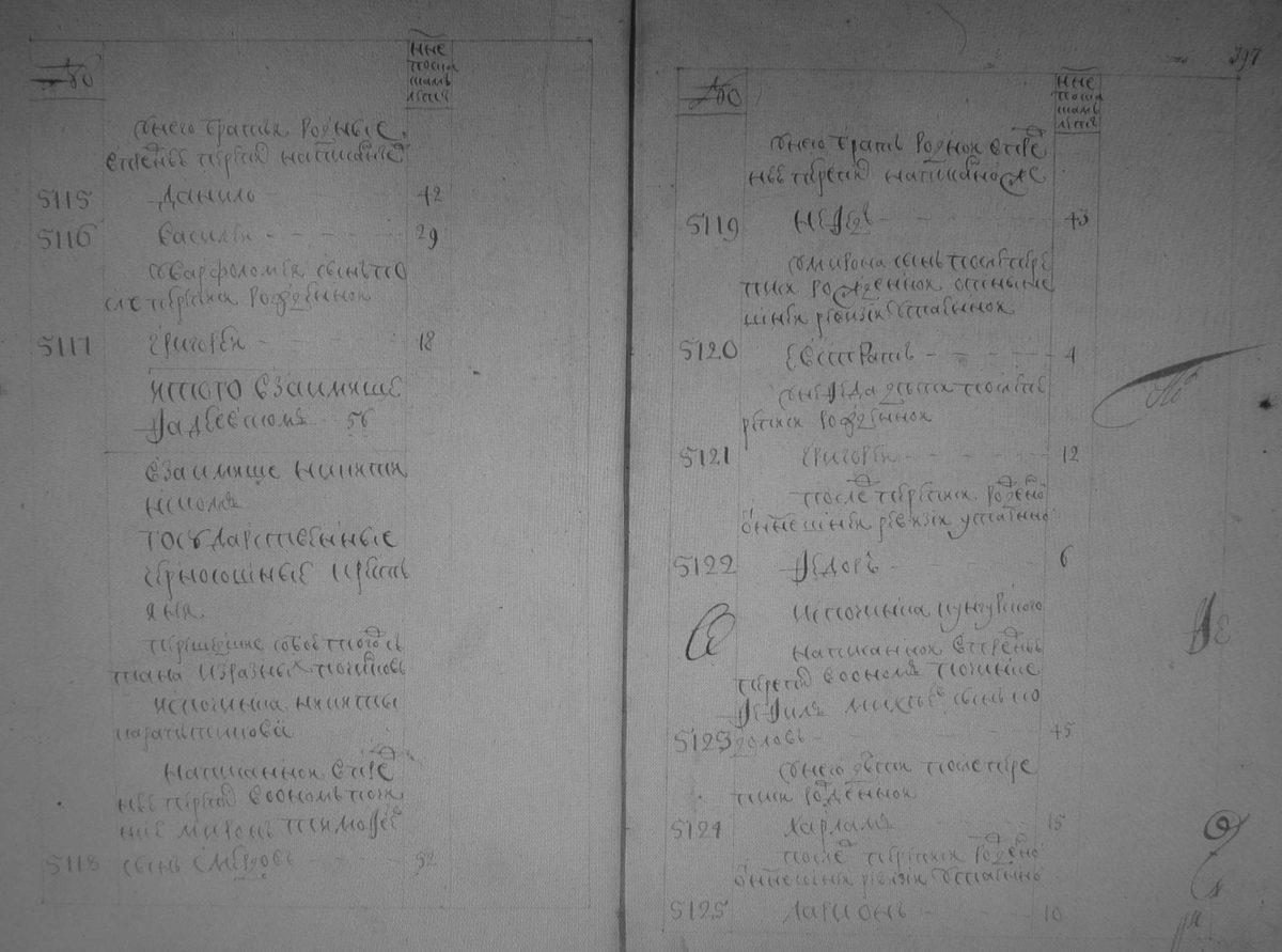 Займище Никитинское, ревизия 1747 года, а в нем перешедшие из починка Никиты Караптинова история семьи Смердовых . Источник РГАДА ф.350, оп.2, д.2471