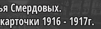 Семья Смердовых подворные карточки деревни 1916 - 1917г