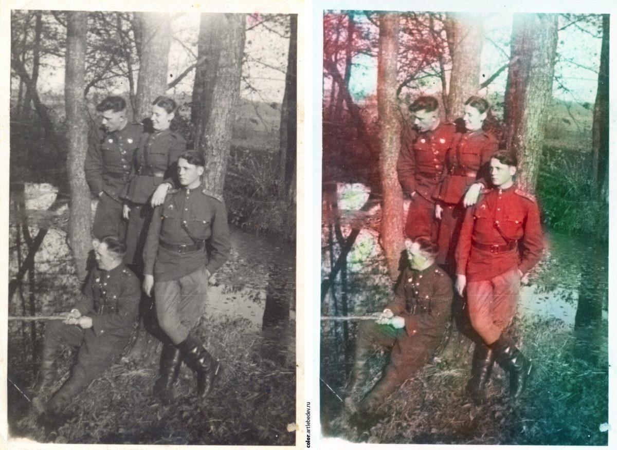 Результат обработки черно-белой фотографии в цвет сервисом