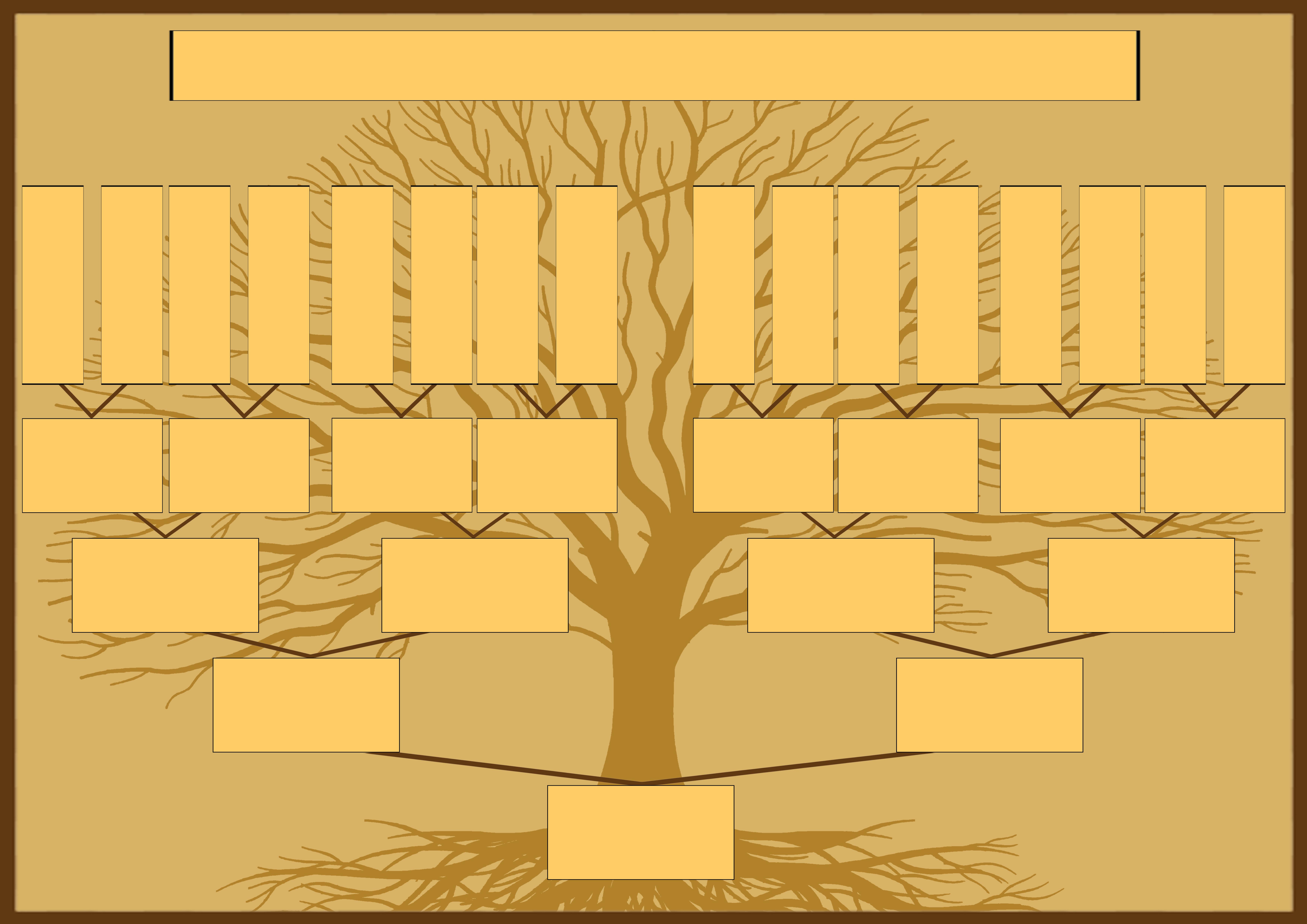 Шаблон родословного древа для самостоятельного заполнения