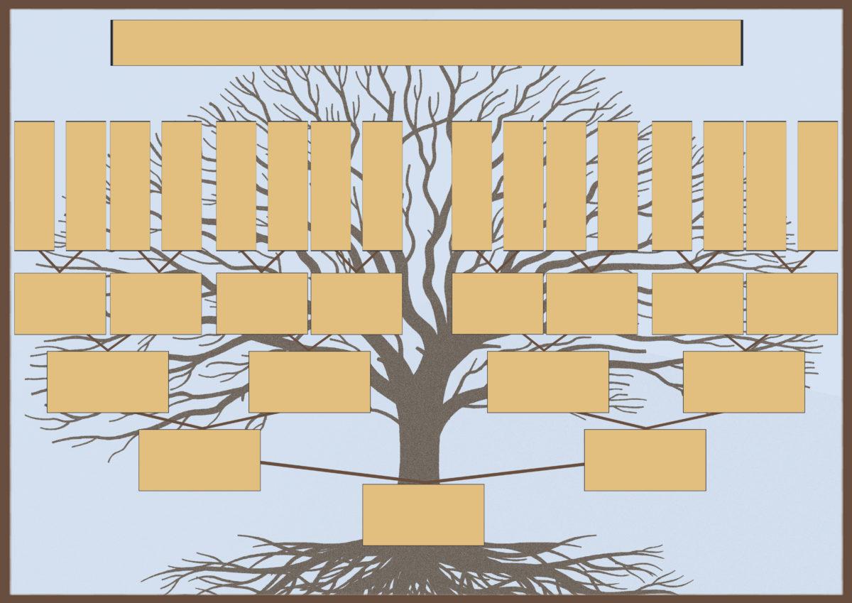 Шаблон родословного дерева для самостоятельного заполнения вместе с ребенком