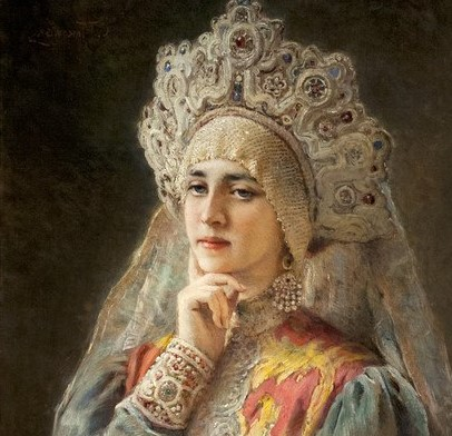 Царевна Ксения Годунова, макияж на Руси на картинах русских художников