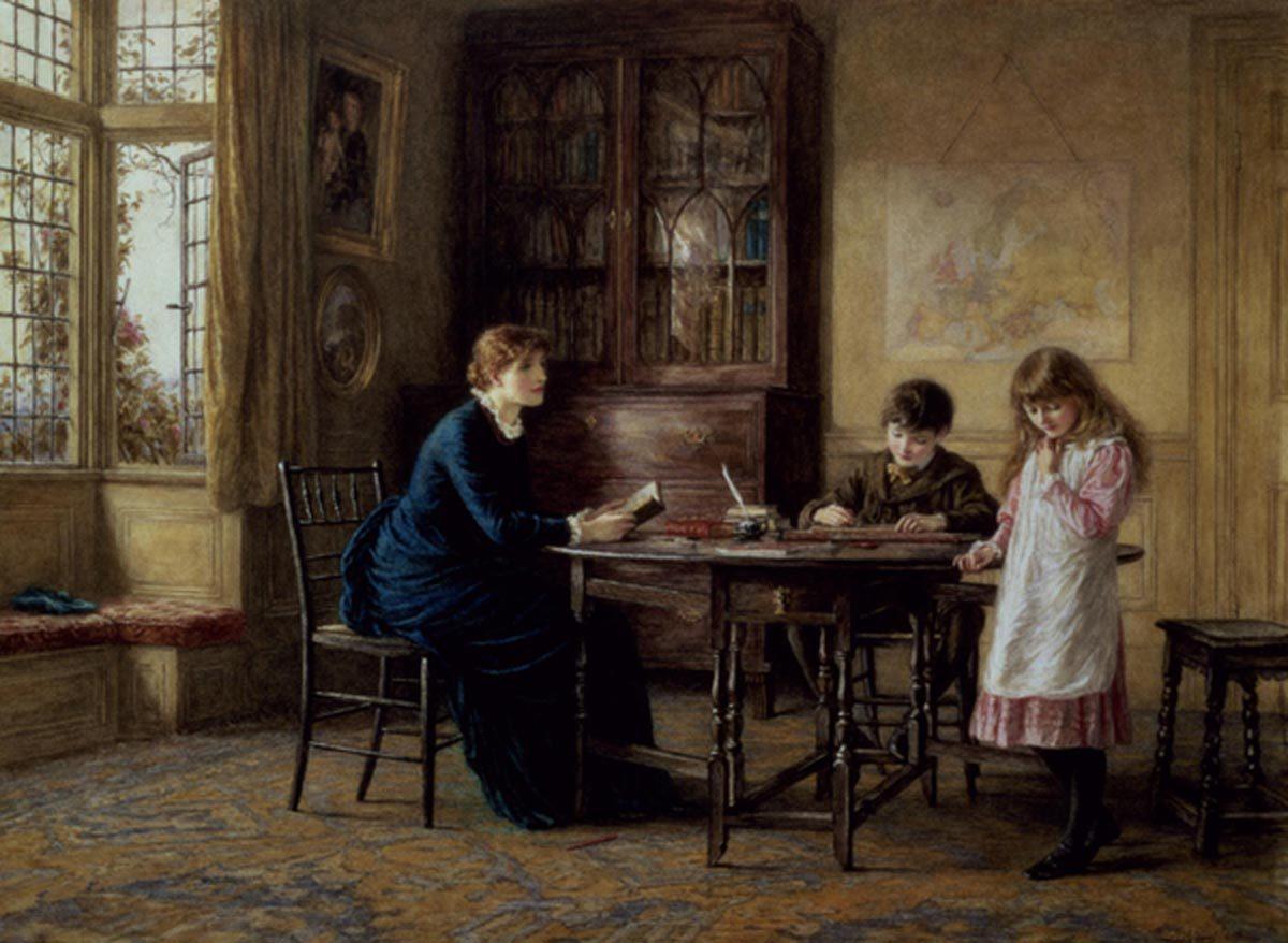 Гувернантка в 18-19 вв. Семейное обучение детей высшего сословия