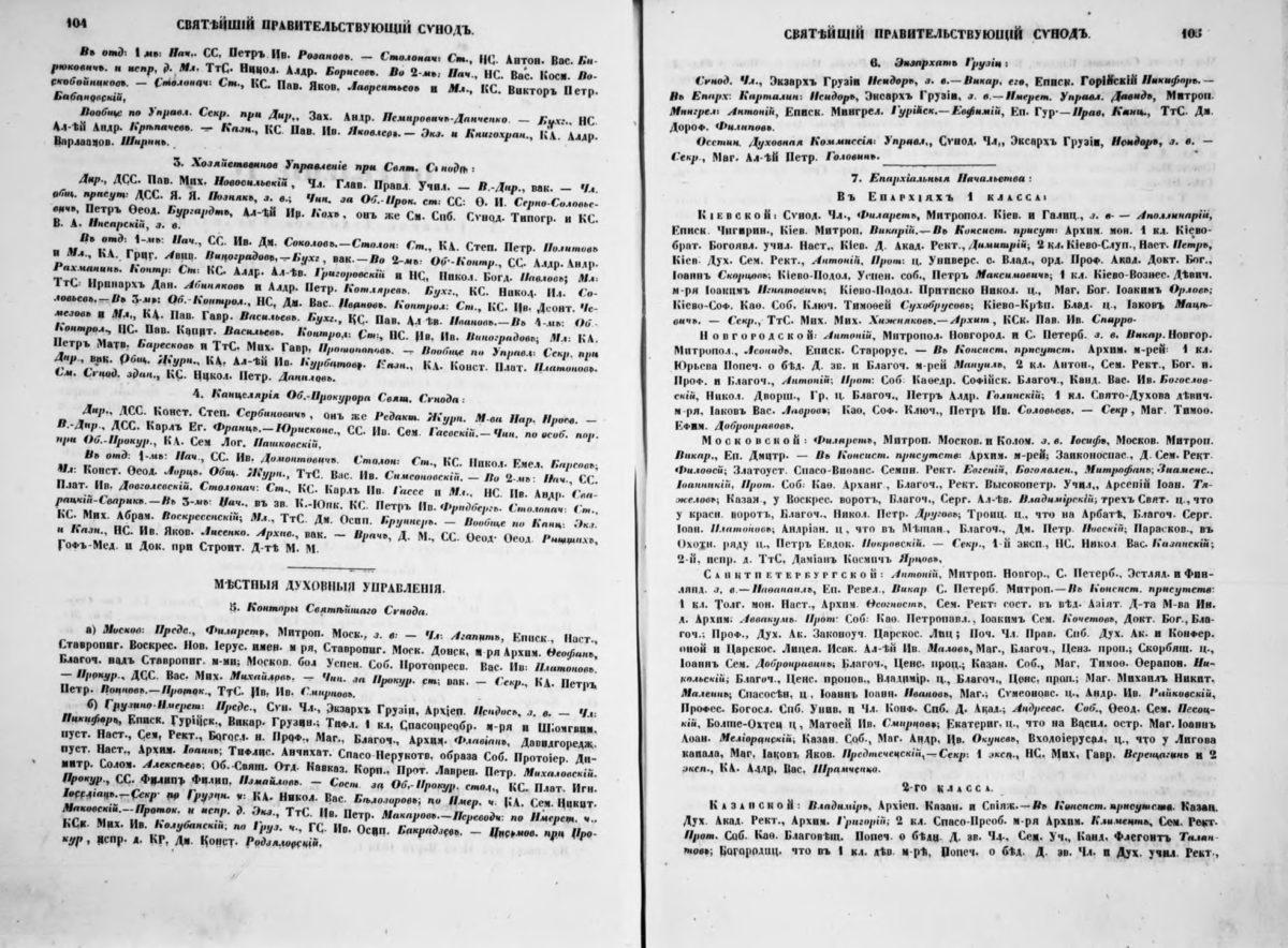 Родословная священника - духовные лица, упоминающиеся в адрес-календаре