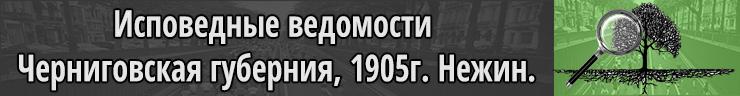 Исповедные ведомости Черниговская губерния за 1905 год Нежин