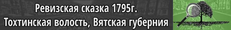 Ревизская сказка 1795г Тохтинская волость, Вятская губерния