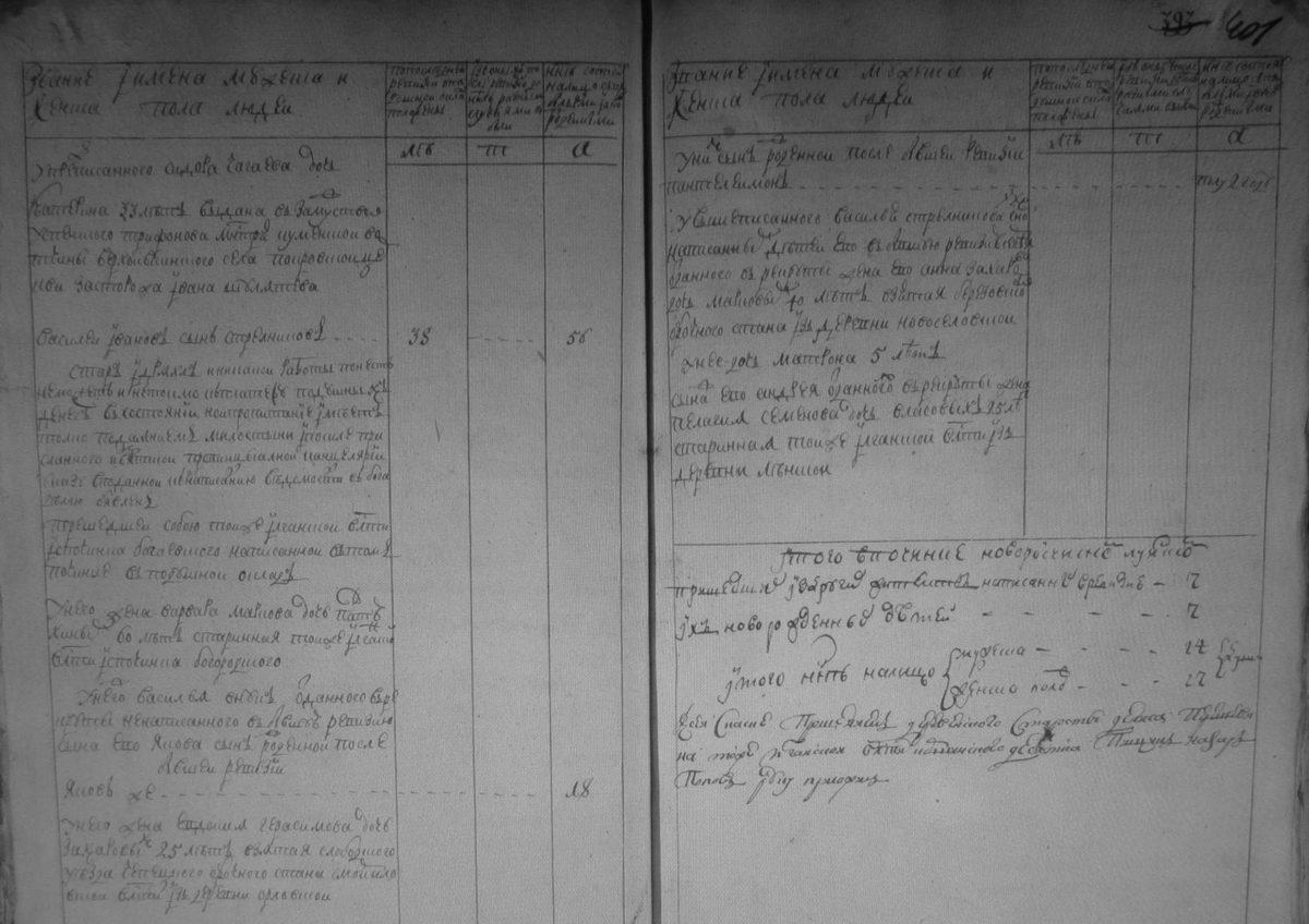 Починок Луинский, Вятская губерния, третья ревизия. РГАДА ф.350, оп.2, д.3891