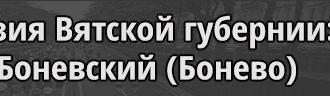 Третья ревизия починок Боневский