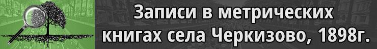 Черкизово метрические книги о родившихся, 1898г